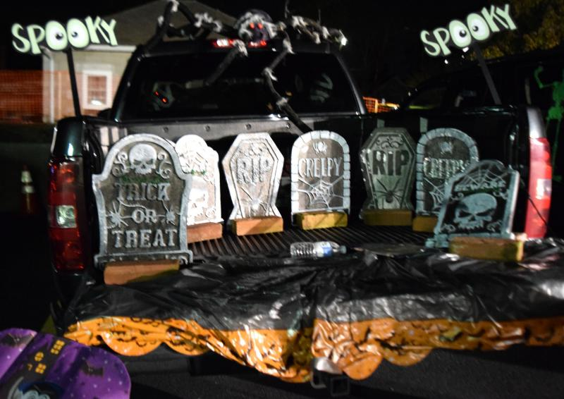 beautiful Decorate Truck Bed Halloween Part - 13: A pickup truck decked out in Halloween decorations. BY DOUGLAS MCCULLOCH