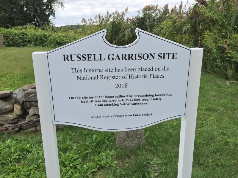The Russell Garrison sign put up in 2018 with the controversial wording. Photo by: Kate Robinson