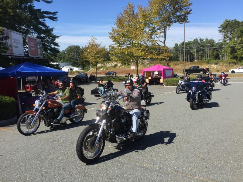 Riders return to the Harley Davidson grounds on State Road at the 2019 Ride for the Troops. Photos by: Kate Robinson