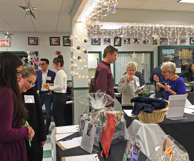 Guests browse the silent auction items at the annual Humane Society and Shelter Gala. Photos by: Kate Robinson