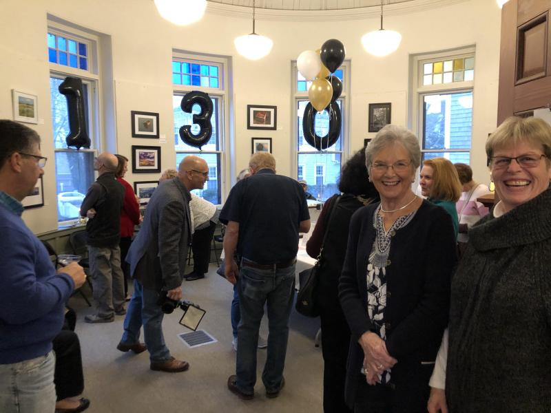 Guests arrive at the Olde Southworth Library's 130th anniversary celebration on February 1. Photo courtesy: Dartmouth Cultural Center