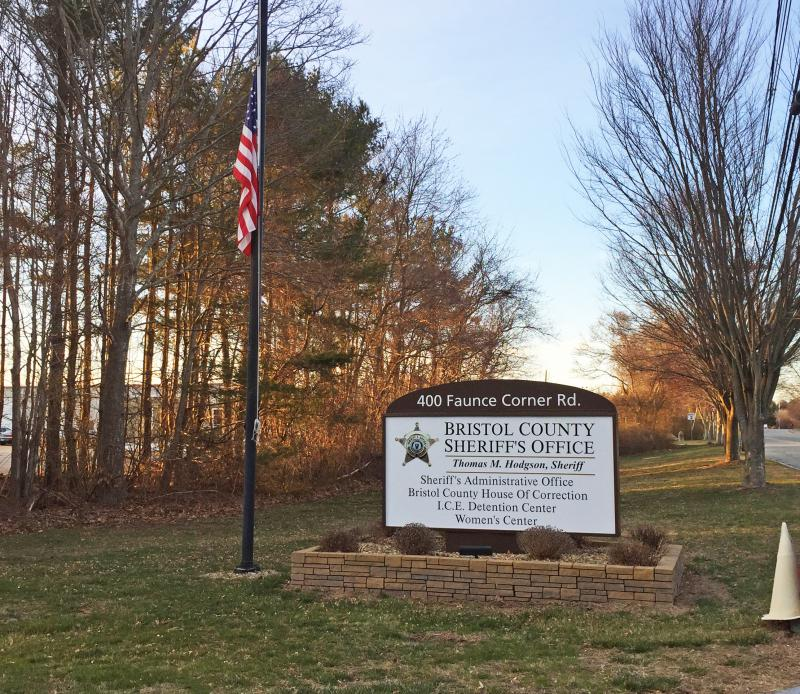 Dartmouth Week - Dartmouth, MA news - The sign at the entrance to the Bristol County House of Corrections facility on Faunce Corner Road. Photo by: Kate Robinson