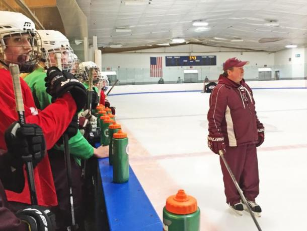Dartmouth, MA news - The team watches with head coach Bill Theodore as some of the girls scrimmage. Photos by: Kate Robinson