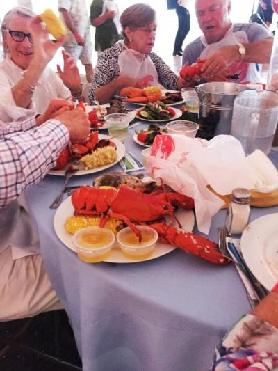 A heaping plate of lobster during the dinner portion of the evening