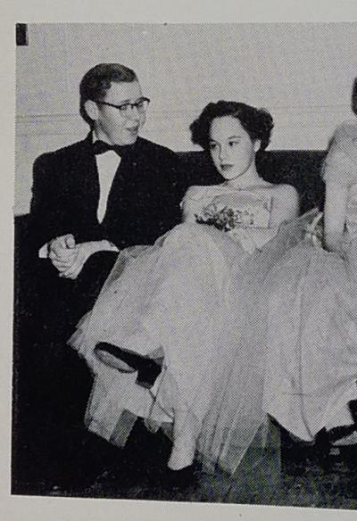 The photo of Russ Cornell and Priscilla (Tavares) Mosher at the Junior Prom in the Harpoon yearbook. Photo courtesy: Priscilla Mosher