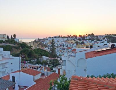 The town of Carvoeiro at sunset. Photo by: Kate Robinson