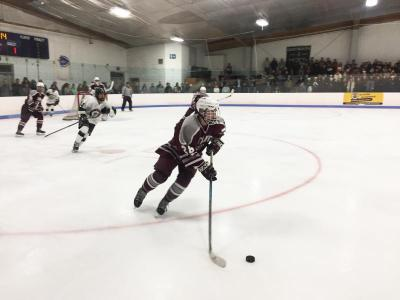 Dartmouth, MA news - sports - Bishop Stang dominated the first period, but Dartmouth High goalkeeper J.P. Kerney held them off