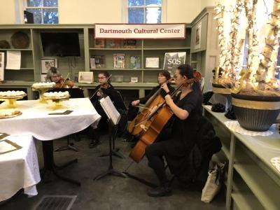 The old library – now a cultural space – was decorated to the nines for the event. Photo courtesy: Dartmouth Cultural Center