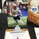 Among the items up for auction was this autographed photo of New England Patriot Kyle Van Noy.