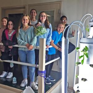 The Dartmouth Middle School hydroponics club on November 19. Photo by: Kate Robinson