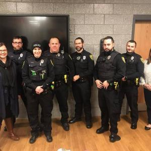A photo posted to the Dartmouth Police Department's Facebook page shows a handful of officers sporting their beards. Photo courtesy: DPD/Facebook