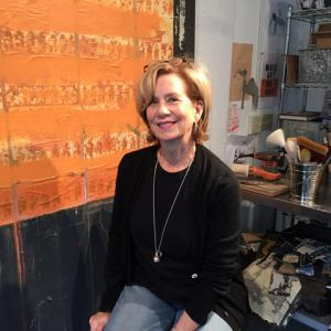 Dartmouth, MA news - Artist profile - Gayle Wells Mandle in her studio. Photo courtesy: Gayle Wells Mandle