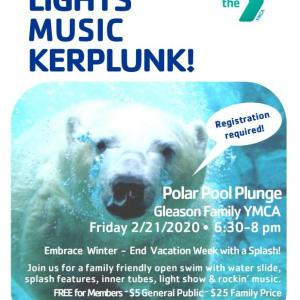 Pool Polar Plunge at the Y