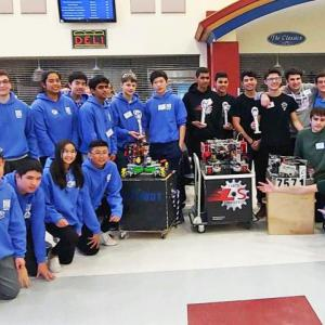 Dartmouth, MA news - The two teams at the qualifiers. Photo courtesy: William Fang/Dartmouth High Robotics Club