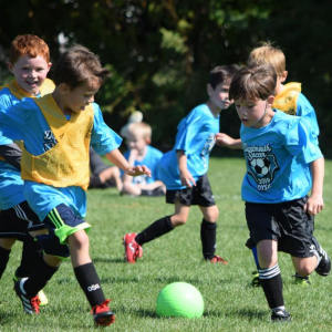 Dartmouth Week - Dartmouth, MA news - Children playing at the Dartmouth Youth Soccer Association's fall opener last year. Photo by: Douglas McCulloch