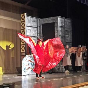Dartmouth, MA news - Friends Academy middle schooler Francesca Selvaggio as the Dragon in Shrek Jr., The Musical. Photos by: Kate Robinson