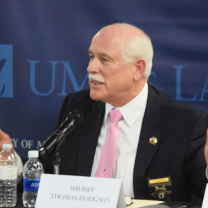 Dartmouth Week - Dartmouth, MA news - Sheriff Hodgson speaking at a panel on immigration in 2017. Photo by: Douglas McCulloch